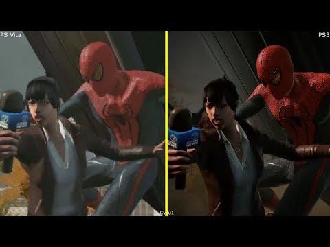 The Amazing Spider-Man PS Vita vs PS3 Graphics Comparison