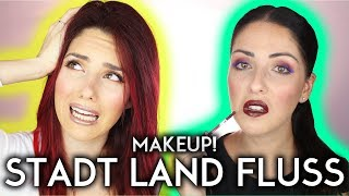 OMG...Makeup STADT LAND FLUSS 💀FULL FACE Challenge! Luisacrashion