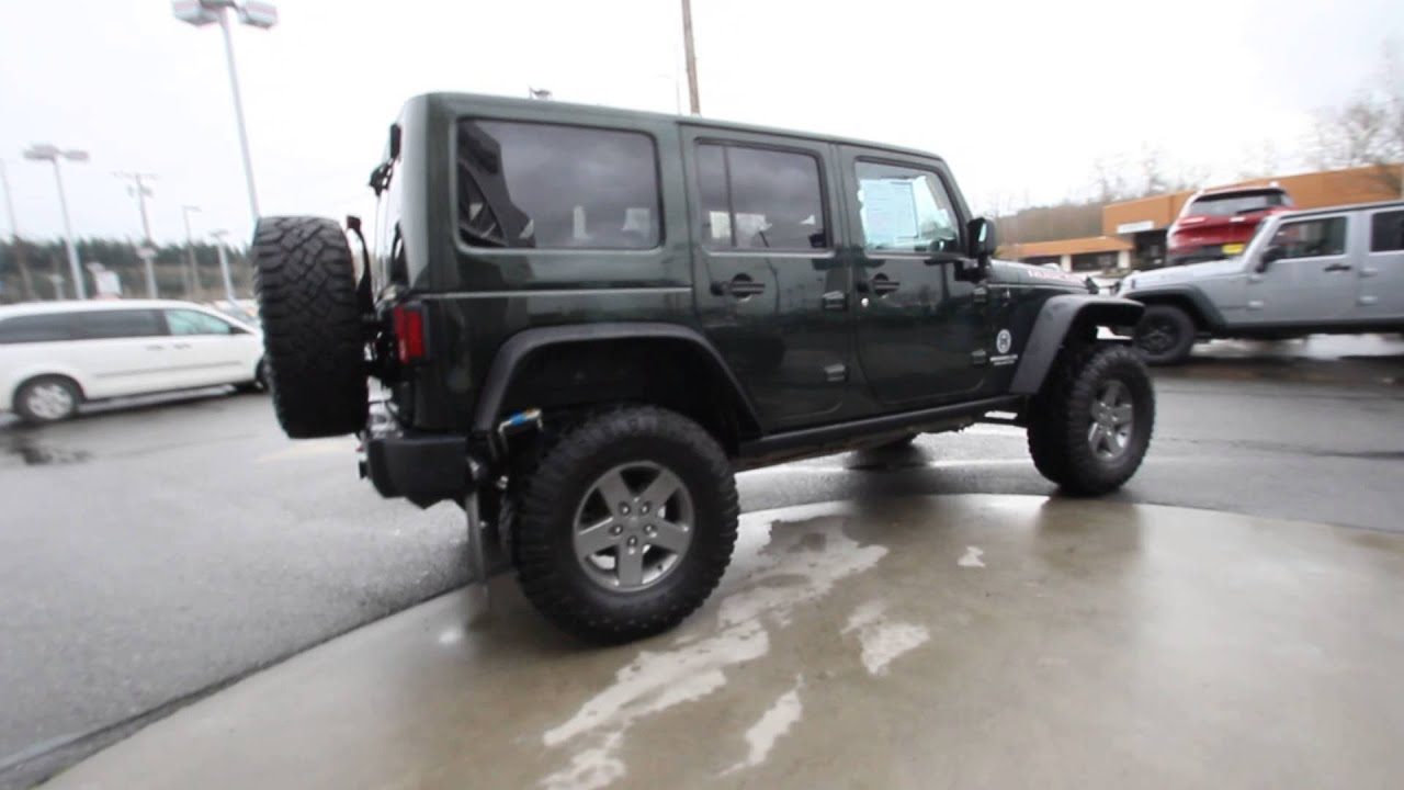 2012 Jeep Wrangler Unlimited Rubicon Black Forest Green