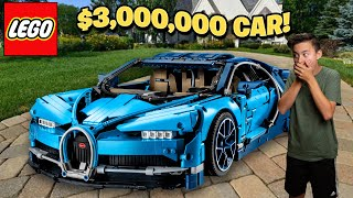 BUILDING A $3 MILLION CAR OUT OF LEGO!!! Lego Bugatti Chiron + UCS Star Destroyer GIVEAWAY!