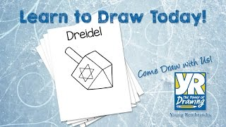 Teaching Kids How to Draw: How to Draw a Dreidel