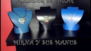 Exhibidor de collar reciclando....Rack necklace recycling