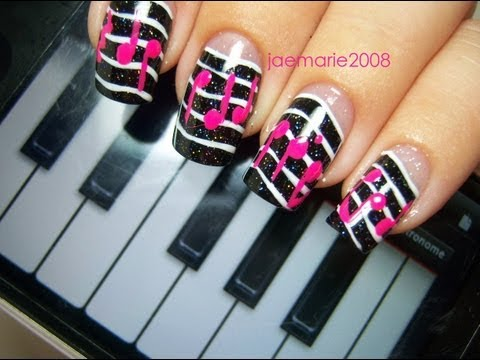 Music Notes Nail Design-Requested