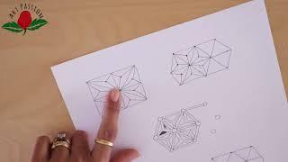 how to draw geometrical hemp leaf pattern with mehendi art :hindi