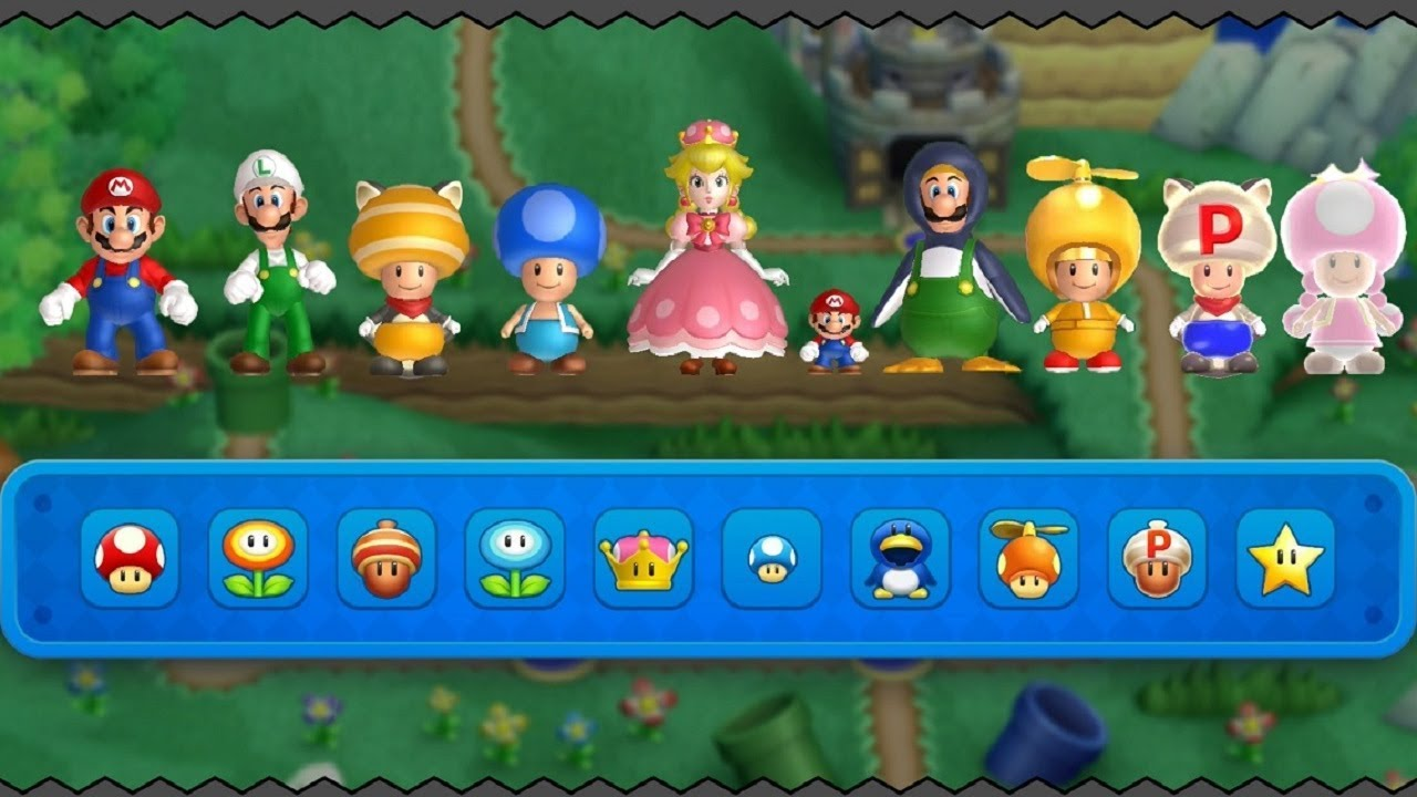 New Super Mario Bros U Deluxe All Power Ups Youtube