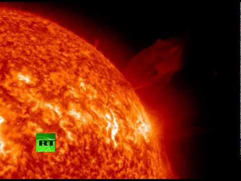 asteroid hitting the sun -#main