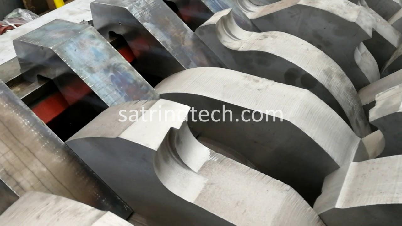 Shredder-sharpening-blade to restoring the original conditions