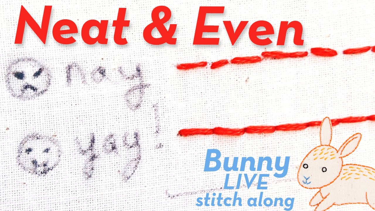 How To Embroider Neat, Even, Clean, Perfect Stitches