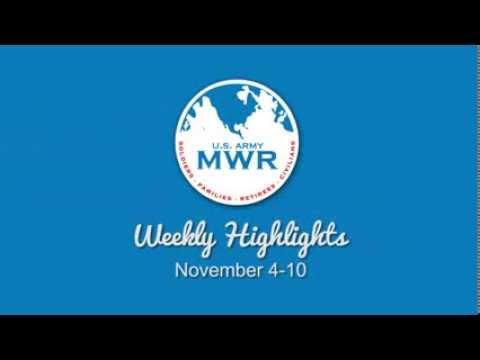 MWR Weekly Highlights - November 4, 2013