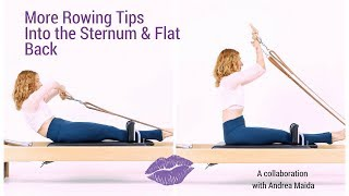 Tips for Pilates Rowing Into the Sternum and Flat Back - Lesley Logan Pilates