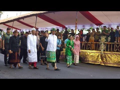 Detik-detik kedatangan Bapak Presiden JOKOWI di Pembukaan Pesta Kesenian Bali 2018