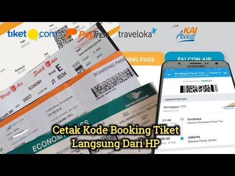 cara cetak kode booking tiket langsung dari hp youtube rh youtube com