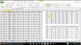 Building a Sports Science Monitoring System on Excel - (Part 2 of 4) Using a Excel Table