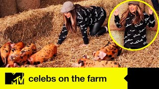 Holly Hagan Gets Full Marks As She Attempts To Separate Piglets | Celebs On The Farm
