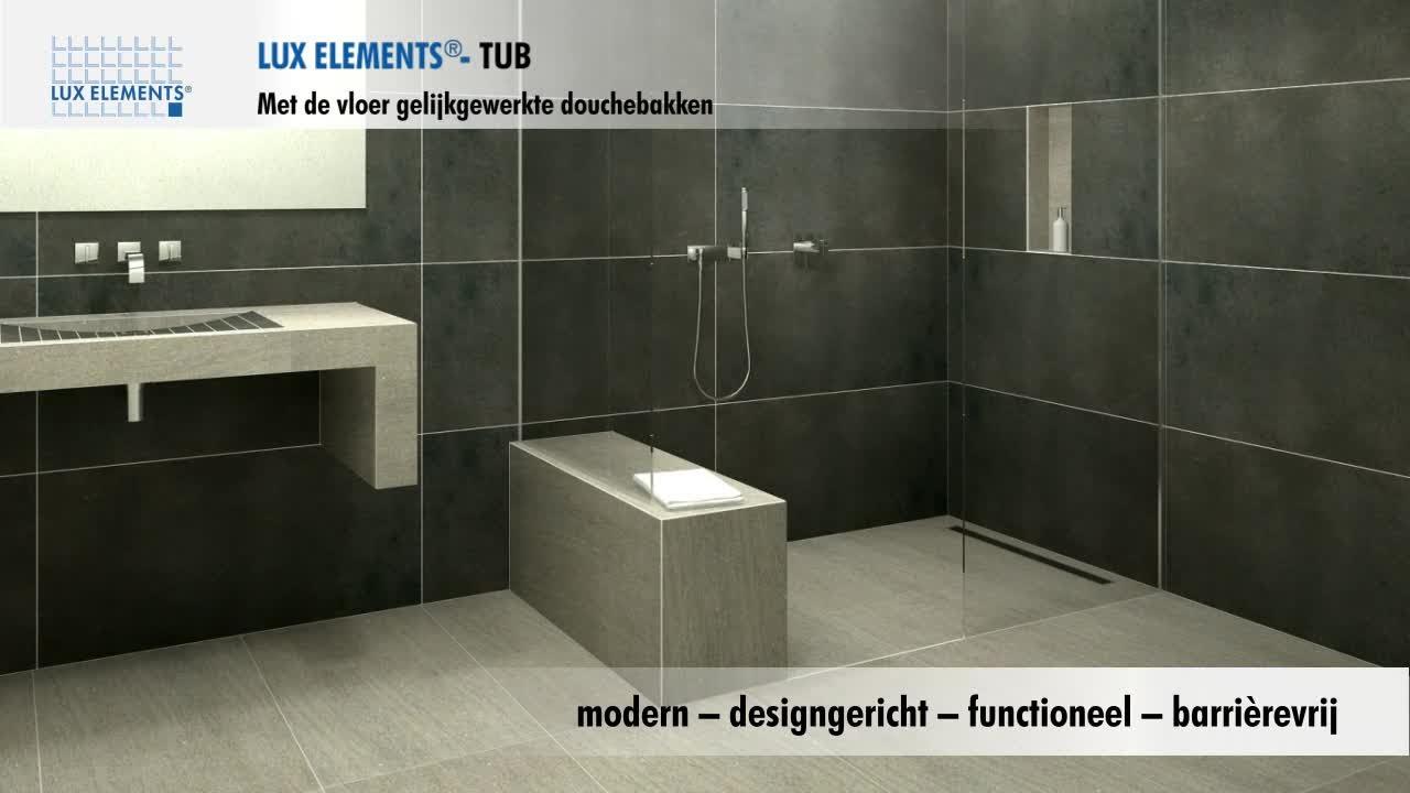 Badkamer Douche Vloeren : Lux elements product met de vloer gelijkgewerkte douches voor