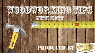 Woodworking Safety First - Woodworking Tips with Matt