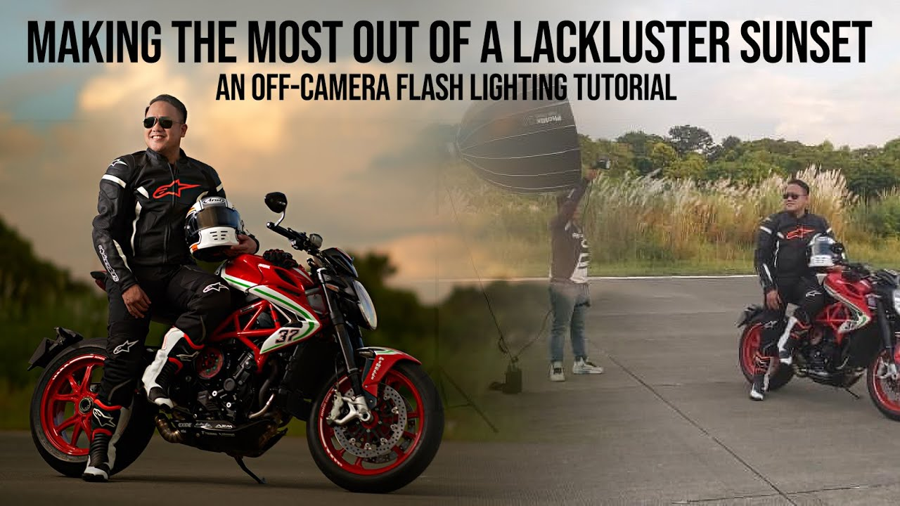 An Off Camera Flash Lighting Tutorial. Making The MOST Out of a LACKLUSTER SUNSET