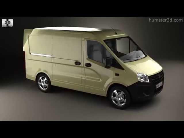 GAZ Sobol Next Panel Van 2013 by 3D model store Humster3D.com