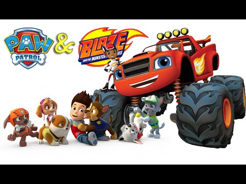 Blaze And The Monster Machines Meets Paw Patrol Youtube