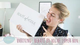 Unboxing: Beauté Et Vogue Zomer Box
