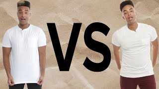 Which White T-Shirt Is More Expensive?
