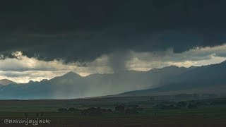 SEVERE Warned Storm Rides Along Colorado Rocky Mountain Ridge on July 24, 2018