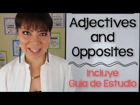 ADJETIVOS EN INGLÉS Y ESPAÑOL - PRONUNCIACIÓN Y DEFINICIÓN