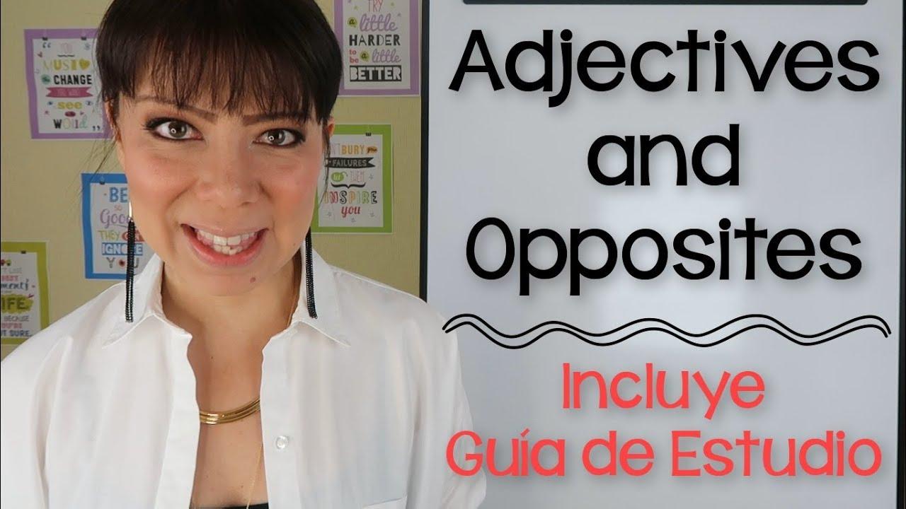 Adjetivos En Inglés Y Español Pronunciación Y Definición Youtube
