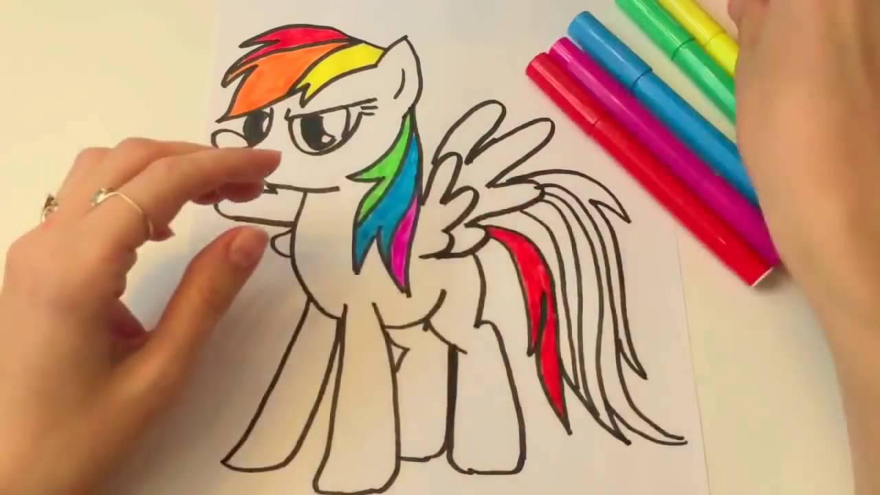 Раскраска Пони Радуга Дэш из мультика My Little Pony ...