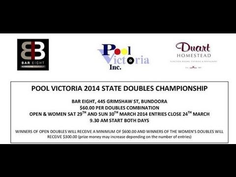 Pool Victoria State Doubles 2014