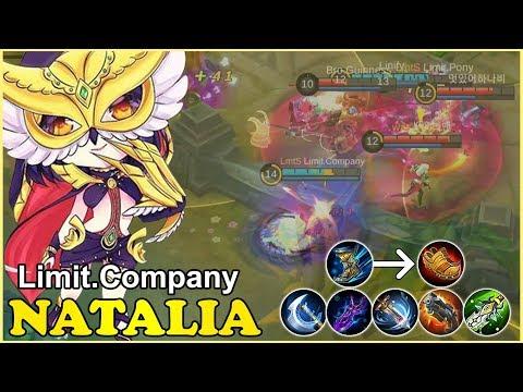 Roaming,Pushing,Damage [Limit.Company] mobile legends natalia gameplay