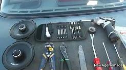How To Install Car Audio : Rear Speaker Installation : 93 Nissan Sentra
