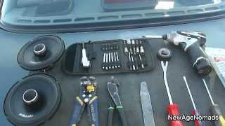 How To Install Car Audio : Rear Speaker Installation : 93 Nissan Sentra