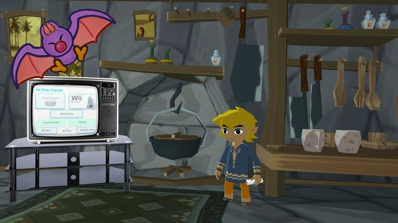 Wii shopping in a zelda house zelda wind waker x wii for Housse zelda