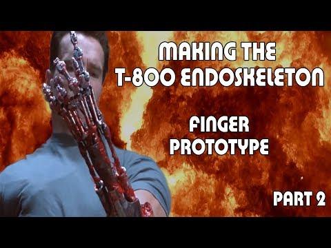 T-800 Endoskeleton Arm Part 02 - Finger Prototype
