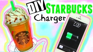 DIY STARBUCKS CHARGER! Tumblr Inspired Room Decor ♡