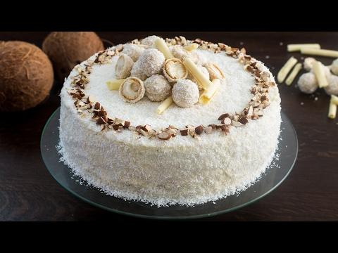 Almond Coconut Cake (Raffaello cake) Recipe
