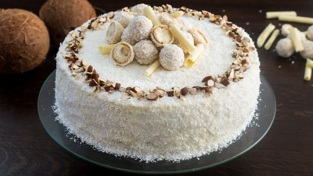 Cake Recipes In Otg Youtube: Almond Coconut Cake (Raffaello Cake) Recipe