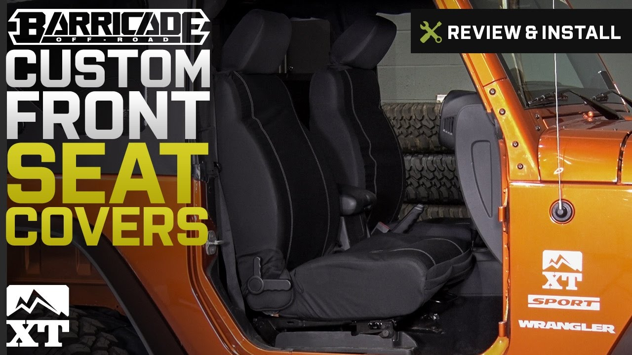 Jeep Wrangler Barricade Custom Front Seat Covers W Pockets 2007 2017 JK Review Install