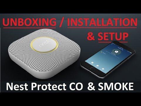 4K UNBOXING / INSTALLATION / SETUP : Nest Protect 2nd Generation Carbon Monoxide & Smoke Detector