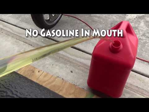 Syphon Gas from a Generator (Don't Suck!)