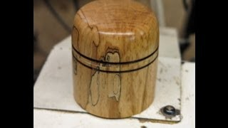 Wood Turning - A Spalted Beech Lidded Box