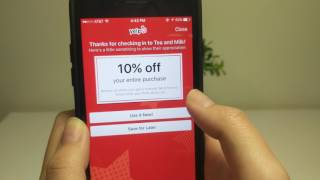 Yelp How to Check In iPhone 7