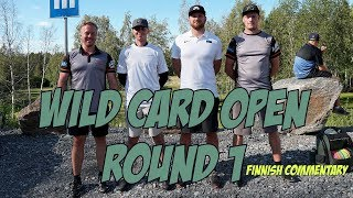 lcgm8 Disc Golf - Wild Card Open round1 (Finnish commentary)