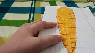 Cách làm squishy giấy 3d hình củ cà rốt siêu dễ _Ngọc Thủy Channel