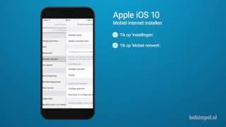Tips & Tricks - Apple iPhone: Mobiel internet instellen (iOS 10)