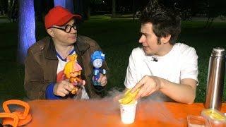 ФИКСИКИ и клоун Дима. Новые опыты: шоковая заморозка. Видео для детей с клоуном Димой