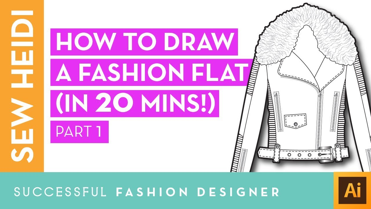 Illustrator Fashion Design Tutorial How To Draw A Fashion Flat In 20 Mins Part 1 Youtube
