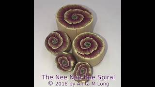 Nee Nee Ree Spiral Polymer Clay Cane Tutorial