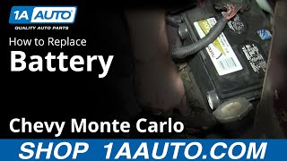 How To Install Replace Dead Battery 2000-07 Chevy Monte Carlo